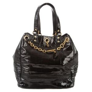 YVES SAINT LAURENT Fauborg Embossed Leather Bag